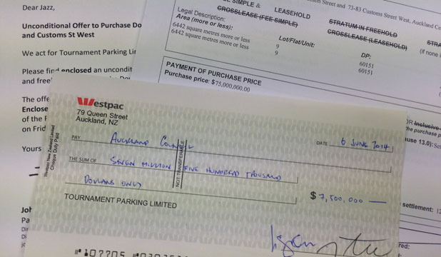 car park cheque