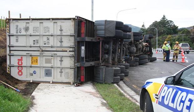 Rolled truck