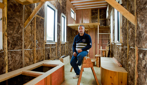 Bevan Thomas has joined Christchurch's growing tiny house movement by building his own haven on wheels.