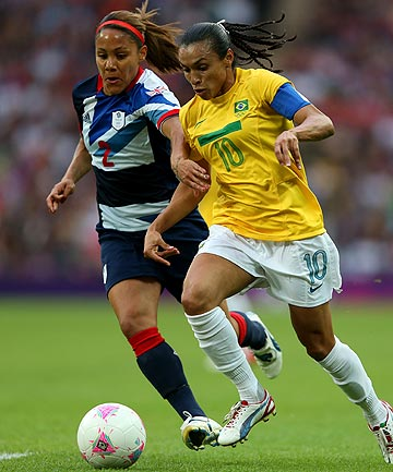 FANCY FOOTWORK: Marta, the best women's footballer in the world, won't play in New Zealand against the Football Ferns next week.