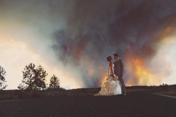 bushfire wedding
