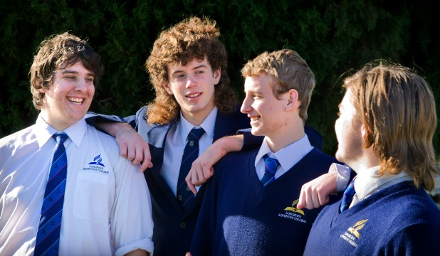 Longburn Adventist College students, from left, Rian Shearman, 17 , Wesley McNae, 16, Lucas Ream, 17, and Jackson Strichow,