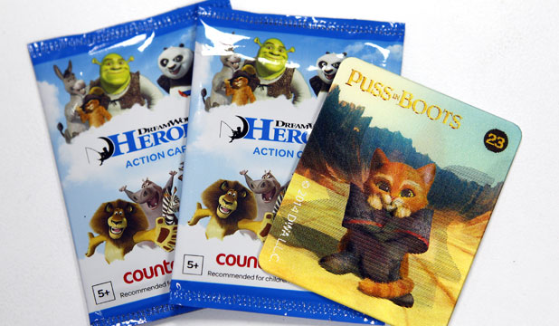 DreamWorks Heroes action cards