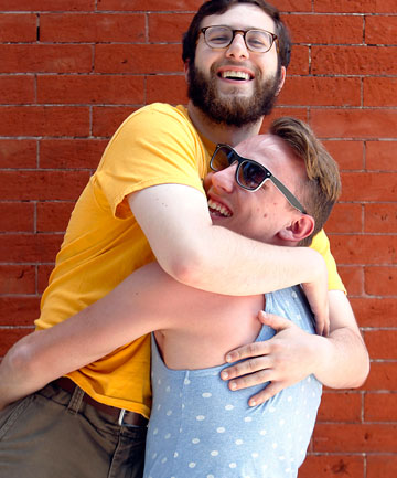 t, and friend Lucas Quagliata, both 24, hug, June 7, 2014, in Philadelphia. The rise in hugging can be directly traced to declines in homophobia, a sociologist says