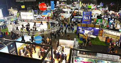 Hamilton's Mystery Creek Pavilion is filled with the latest in agribusiness offerings for the Fieldays.