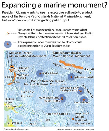 marine monument graphic