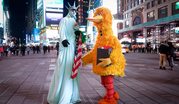 Times Square costumes