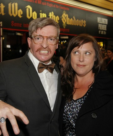 Rhys Darby, who plays a werewolf, and his wife Rosie.
