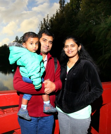 Varghese, left, and Roshini Jackson and their son Melvin