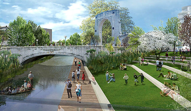 Avon River Precinct artists impression