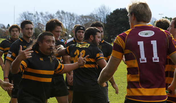 A fight breaks out during a match between Otatauhi and University