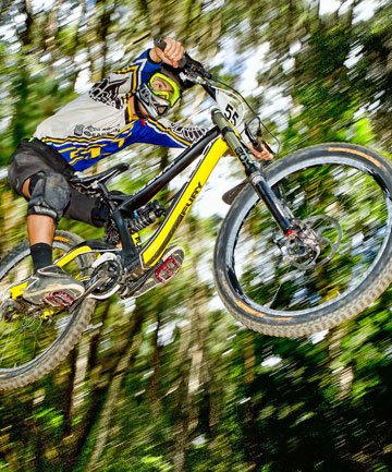 Downhill mountainbiker Mathew Gillan
