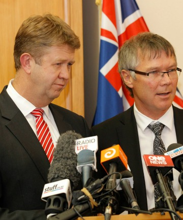 Labour leader David Cunliffe and finance spokesman David Parker
