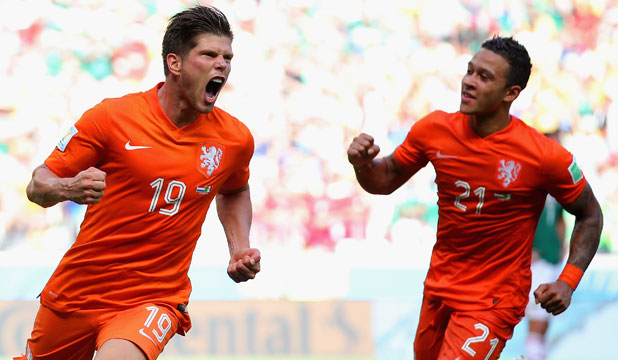 Klaas-Jan Huntelaar and Memphis Depay