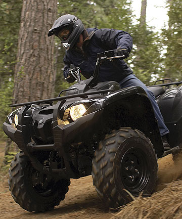 Riding an ATV/quad bike