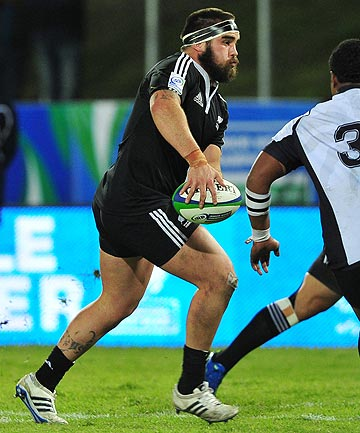 FRESH START: Former Stags prop Tuki Raimona in action for NZ at the IRB Junior World Champs in 2012.