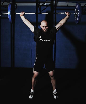 AIMING HIGH: Weightlifter Richie Patterson has his sights set on a gold medal at the Commonwealth Games.