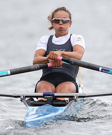 IN FORM: Julia Edward will again compete in the lightweight single scull at the third and final World Cup regatta in Lucerne next week.