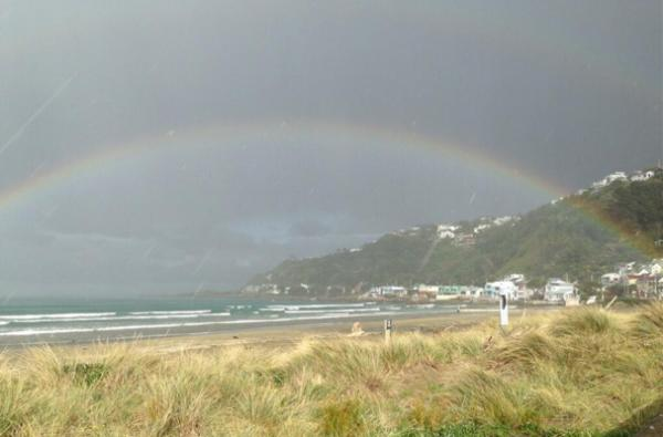 Lyall bay rainbow