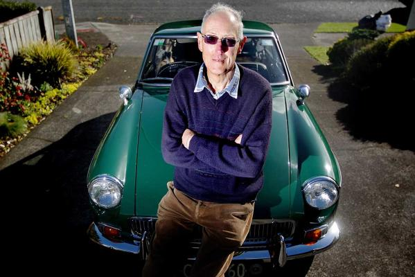 Don Burgess and his British built MGB.