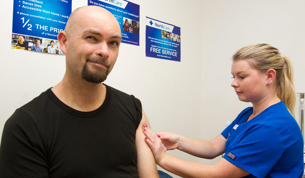 Mike Mather, measles jab