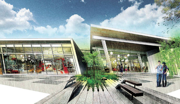 ONE STOP SHOP: The new hub will incorporate a library, meeting spaces and a customer service desk.