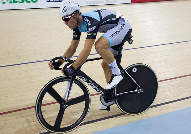 ONE TO WATCH: Cyclist Patrick Bevin will put his devastating sprint to use in the points race and individual pursuit on the track in Glasgow.