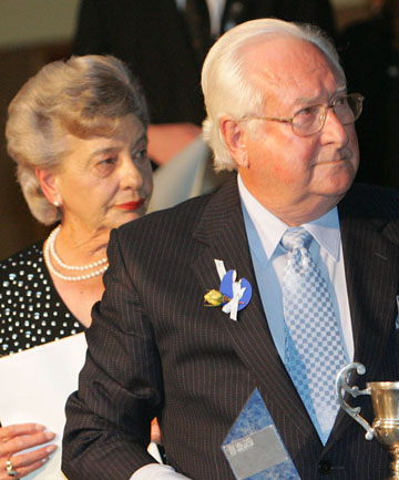 Sir Patrick and Lady Hilary Goodman
