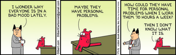 Wednesday, July 9: Personal problems