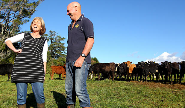 Taranaki focus farm hosts Kathy and Chris Prankerd
