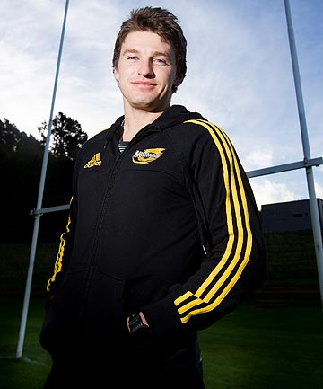 STAYING PUT: Beauden Barrett has committed to the Hurricanes for a further two seasons.