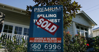 The number of homes for sale has dipped, but average prices - especially in Auckland - are at a record high.