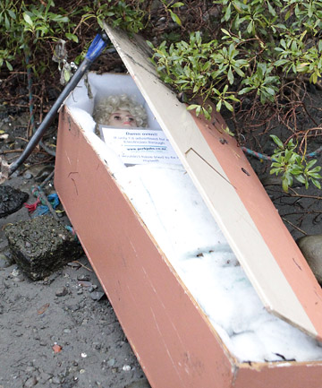 Coffin in Hutt River