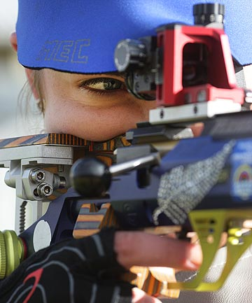 ON TARGET: Southlander Jenna MacKenzie, 21, will become the first New Zealander to shoot in three smallbore events at a Commonwealth Games.