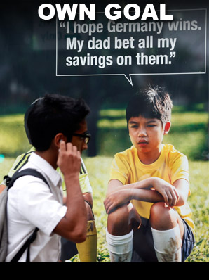 Singapore anti-gambling advert