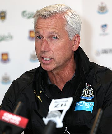 ALAN PARDEW: The Newcastle United manager has said his team want to put on a show against Sydney FC in Dunedin tonight, in memory of two fans who were on board MH17.