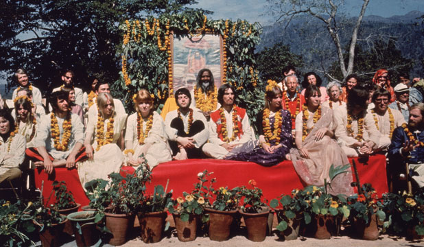 The Beatles and their wives, Rishikesh