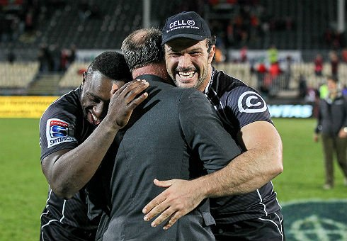 Tendai Mtawarira, Jake White and Bismarck du Plessis