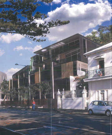 Napier apartment block