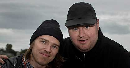 Stu Maxwell and Kim Dotcom