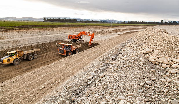 Work has begun on the giant Central Plains Water project that will eventually water 60,000ha of Canterbury farmland between the Rakaia and Waimakariri Rivers.