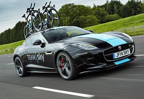 Jaguar's unveils bespoke F-Type coupe as a high performance Tour de France support vehicle.