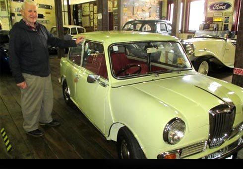 Bill Dooley is mad about cars and his latest love is a 1967 Riley Elf Mark III.