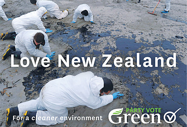 Greens Love NZ oil