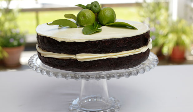 CHOCOLATE KAFFIR LIME CAKE