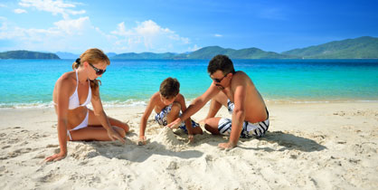 Family, travel, Islands