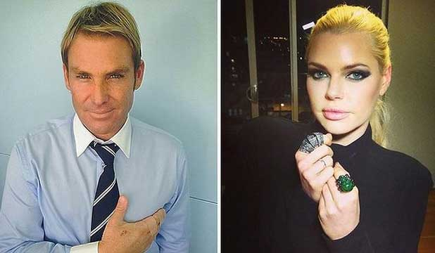 Shane Warne and Sophie Monk