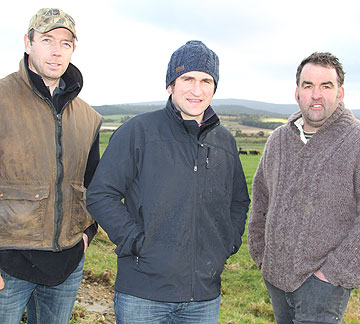 Pourakino Valley farmers Jason Kells, left, Geordie Eade and David Diprose are aiming to improve water quality in their catchment and improve the public's perception of agriculture.