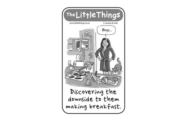 Wednesday, July 30: Breakfast downside