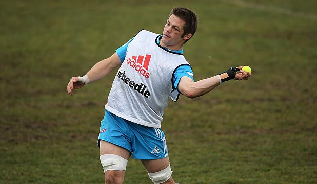 GOOD NERVES: he may have 113 tests, three World Cups and 137 appearances for the Crusaders to his name, but All Blacks skipper Richie McCaw still gets anxious before the big matches.